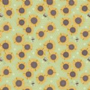 Lewis & Irene Farmers Market - 5351 - Sunflowers on Pale Green - A211.2 - Cotton Fabric